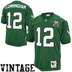 69fe1c135d2 Mitchell   Ness Randall Cunningham Philadelphia Eagles 1992 Authentic  Throwback Jersey - Green Eagles Jersey