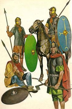 The Roman soldiers that manned Hadrian's Wall - late second century AD.
