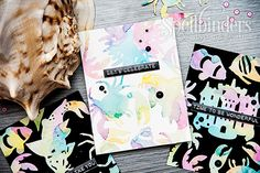 Yana Smakula | Watercolor die cuts and backgrounds