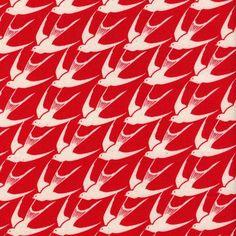 Flock in Red | Oak Fabrics