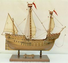 Armed carrack - the earliest known example of cannon on european ships from the late 15th century