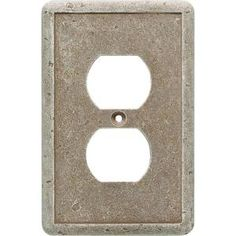 Weybridge, 1 Gang Duplex Outlet Cast Stone Wall Plate - Noche, SWP101-02 at The Home Depot