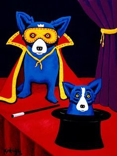 Raphael S Cajun Painting Of Blue Dog