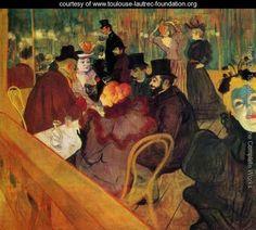 At The Moulin Rouge    Henri De Toulouse-Lautrec