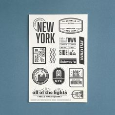 """""""Passport: New York"""" - Clear Stamp Set by Christine Herrin – Everyday Explorers Co. All Of The Lights, Clear Stamps, Project Life, Passport, Paper Crafts, New York, Travel Journals, Bullet Journals, Manhattan"""