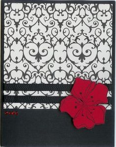 Black and White and Red by ruby-heartedmom - Cards and Paper Crafts at Splitcoaststampers