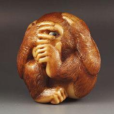 The Curious Monkey netsuke