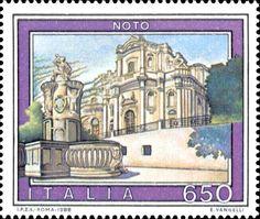 1988 - Turismo: Noto (Sicilia) - dal  2002 il suo centro storico è Patrimonio dell'Umanità, insieme con le altre città tardo barocche del Val di Noto.