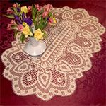Free Crochet Patterns to Print | Get the matching Leipzig Round Doily pattern.