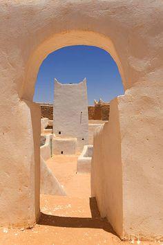 Libya : Atiq mosque, the oldest mosque in Ghadames