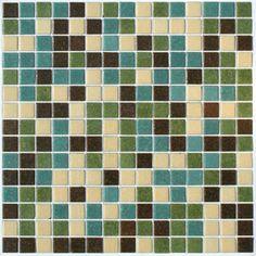 Subtle Glass Mosaic Tile Blend