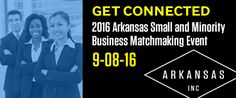 Banner for Arkansas Small Business Matchmaking Event