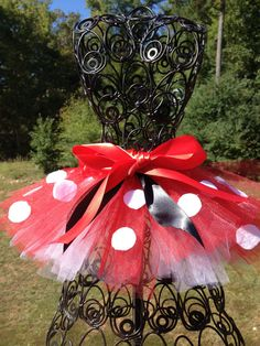 Minnie Mouse Tutu - Newborn - Baby Infant Toddler up to size 4T - Birthday Outfit. $22.00, via Etsy.