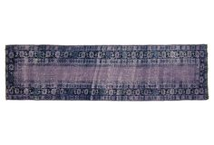 Overdyed Peshawar Runner, 89 x 24 on OneKingsLane.com