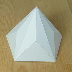 Paper model pentagonal-decagonal pyramid