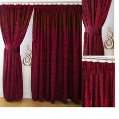 Vivian Velvet 3 Tape Top Wine Deluxe Jacquard Fully Lined Curtains Last Few Harry Potter Bedroom