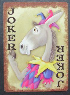 Joker Playing Card, Playing Cards Art, Joker Card, Poker Face, Jokers, Decks, Dinosaur Stuffed Animal, Blessed, Mary