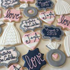 Bridal shower cookies, Kekse, Hochzeit, Gastgeschenke