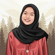 Hero Wallpaper, Screen Wallpaper, Anime Muslim, Hijab Cartoon, Vector Portrait, Anime Scenery, Business Card Design, Cartoon Art, Caricature