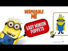 This week we have lots of fun with some Despicable Me Minions. Today, we have FINGER PUPPETS. So easy. Perfect as a Party Craft.