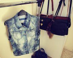 D.I.Y Denim jacket into bleached denim vest