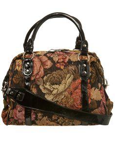 7f3a822f3ab9 Miss Selfridge Tapestry overnight bag