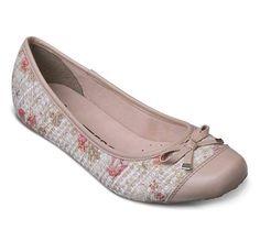 Sapatilha de couro e tecido floral   Sapatilhas   Bottero Calçados