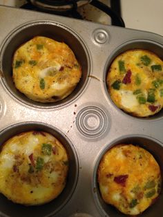Omelet muffins. Meal prepping