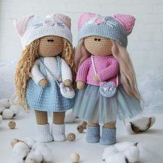 Best 12 Custom Amigurumi Crochet Girl Doll in dress Baby by MollisToys – SkillOfKing. Handmade Dolls Patterns, Crochet Dolls Free Patterns, Crochet Doll Pattern, Doll Amigurumi Free Pattern, Cute Crochet, Crochet Toys, Crochet Baby, Doll Making Tutorials, Halloween Crochet