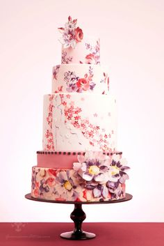 Hand Painted Wedding Cake Inspiration
