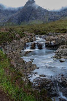 Brooding Fairy Pools in May, Isle of Skye.
