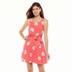 LC Lauren Conrad Floral Fit & Flare Dress - Women's. PRETTY.