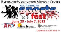 Want more information about the Baltimore Washington Medical Center All American Sports Fest? Visit our website: www.aacounty.org/recparks