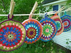 lovely crochet potholders                                                                                                                                                                                 More