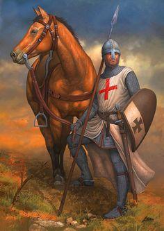 Templar Crusader knight- by Angel Garcia Pinto