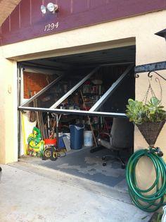 A screen door for your garage!  Works with existing garage door.