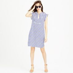 J.Crew | Striped tuxedo shift dress