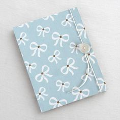 Accordion Book Blue Bow