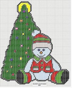 SNOWMAN AND CHRISTMAS TREE by STITCHEMS