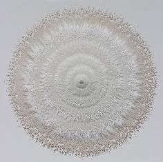 Rogan Brown faz esculturas inspiradas em micro-organismos minerais e vegetais, mapas topográficos e plantas reveladas em dezenas de camadas de papel, que demoram até 5 meses para serem concluídas, tanto pelo número de detalhes quanto pela evolução da peça que vai tomando forma dia após dias de trabalho do artista.