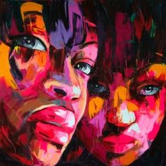 Cheap art pictures, Buy Quality wall art picture directly from China face oil paintings Suppliers: Hand painted Francoise Nielly Palette knife portrait Face Oil painting Character figure canva wall Art picture for living Images D'art, Abstract Portrait, Colorful Paintings, Art Paintings, Arte Pop, Wall Art Pictures, French Artists, Face Art, Oeuvre D'art
