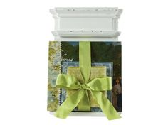 The Gathering of Friends Book Stand.  Beautiful way to present a gift wrapped up with a bow.