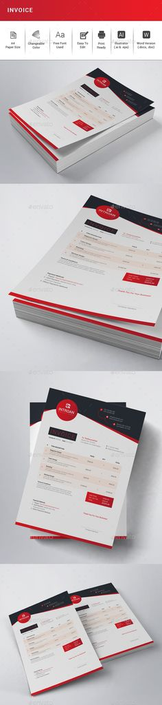 Invoice Bundle Template, Stationery printing and Print templates - print invoice