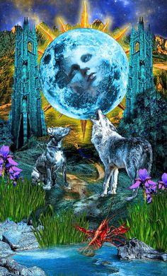 The moon  From what tarot illuminati