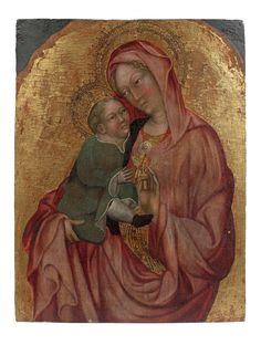 MADONNA AND CHILD Michele Giambono Venise, vers 1400 - vers 1462