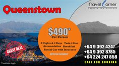 * 3 Nights & 4 Days – 2 Adults / Twin 4 Star * 3 Nights accommodation with breakfast * Rental Car Sedan with Standard Insurance * Airfares Excluded * Inclusive of all taxes. Costing: $49…