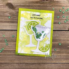 Maker's Movement Blog Hop with Designer Crafts Connection Cute Cards, Diy Cards, Craft Tutorials, Craft Projects, Shaker Cards, Fun Cocktails, Card Maker, Clear Stamps, Greeting Cards Handmade