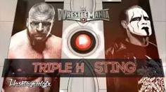 2015: Triple H vs. Sting Official WWE WrestleMania 31 (XXXI) Match Card ᴴᴰ - YouTube