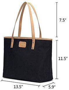 Naimo Fashion Women's Large Capacity Waterproof Nylon Handbag Tote Shoulder Bag: Made of waterproof nylon with… #coupons #discounts