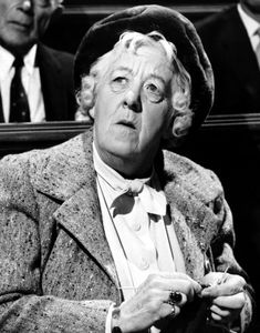 Margaret Rutherford As Miss Marple. Never tire of her movies!